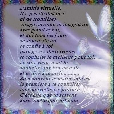Poème Sur Lamitié Virtuelle Chezmamielucette