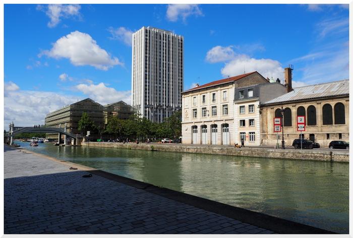 Habiter prés du Canal de l'Ourcq. Paris