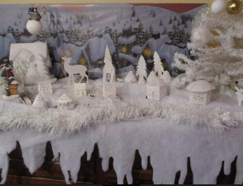 Elisabeth avait installé son village blanc