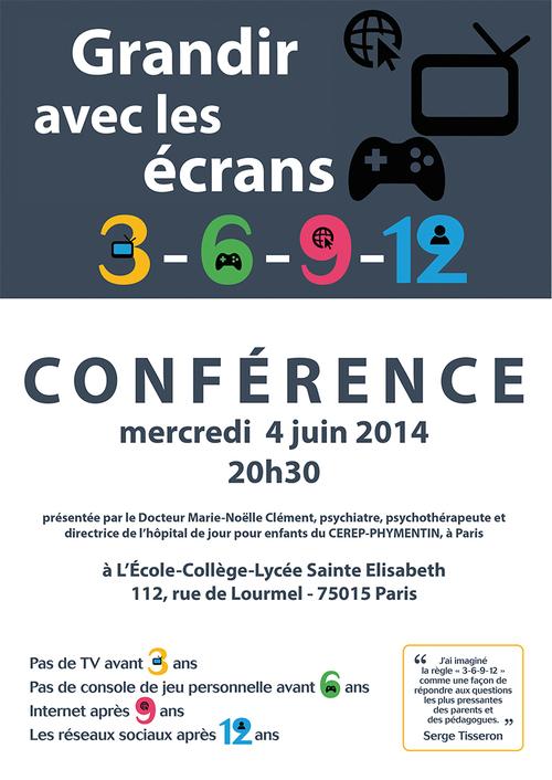 Conférence « Grandir avec les écrans »