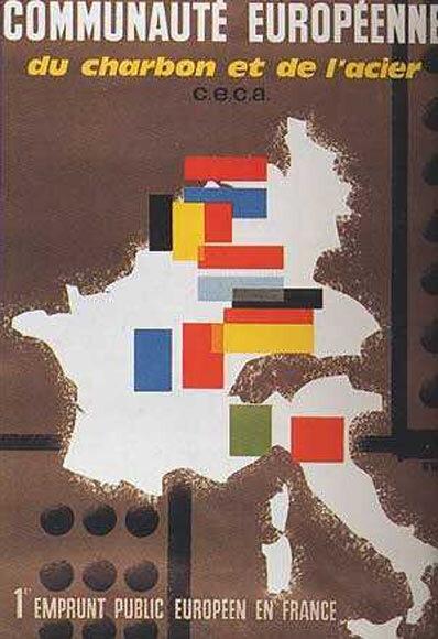 Europe. Affiche de 1957