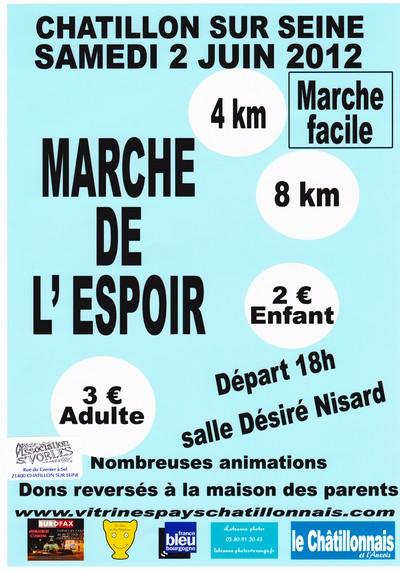 """la """"Marche pleine d'espoir"""" proposée par les Vitrines Châtillonnaises se prépare..."""