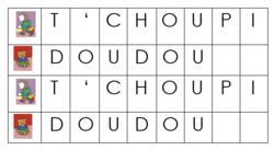 """MS / Album """"T'choupi rentre à l'école"""" / Découvrir le principe alphabétique"""