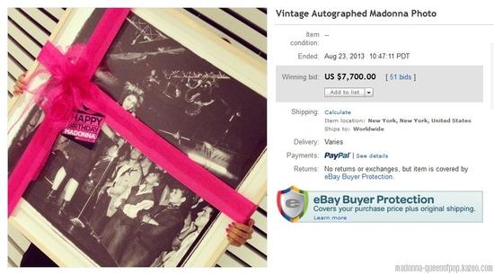 vintage autographed madonna photo