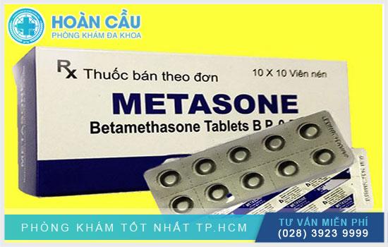 Metasone thuộc nhóm thuốc nội tiết tố - hormone