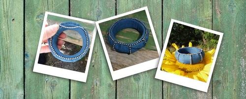 Bracelets cousus main