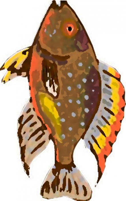 coloriage Imprimer le poisson d'avril à découper 1
