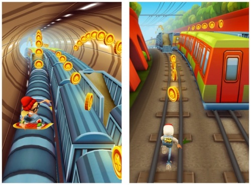 Subway surfers , jeu gsm/tablette