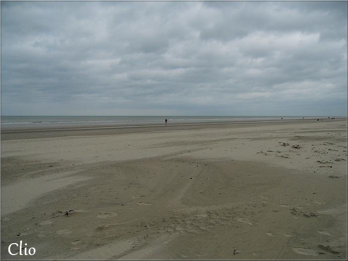 Bray-Dunes, mer et plage en hiver (février 2016)
