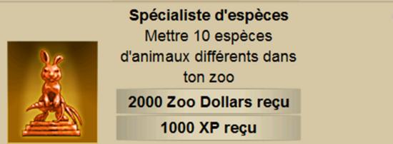 spécialiste d'espèce 1