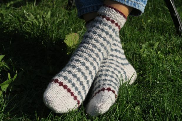 Chaussettes à losanges