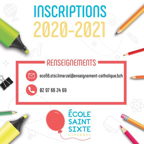 Inscriptions 2020 2021 - toujours possible.