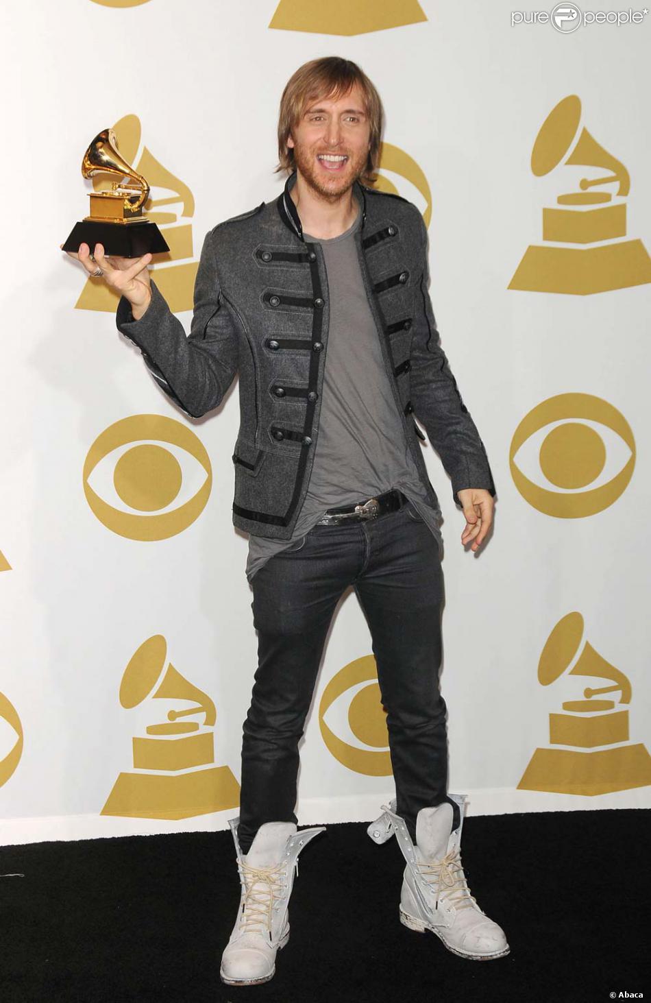 David Guetta aux Grammy Awards, Los Angeles, le 31 janvier 2010 - Purepeople