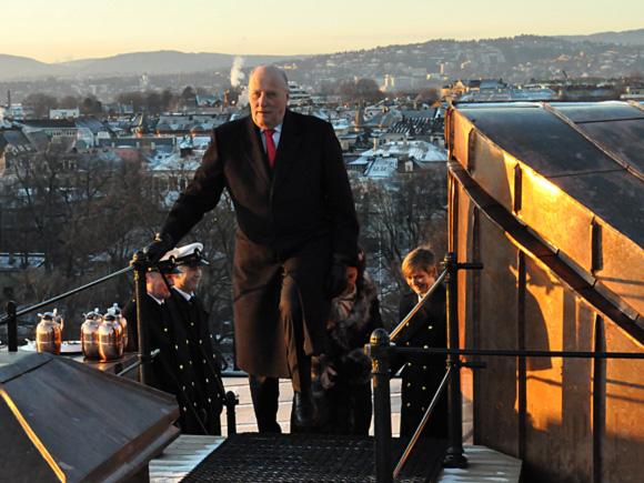 Sonja et Harald sur le toit