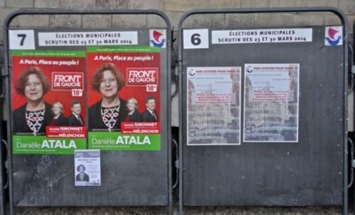 Affiches municipales 14 sacré-coeur Front de Gauche