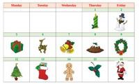 Christmas : Le calendrier de l'avent en anglais