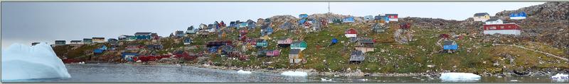Panorama sur Kullorsuaq vu du pont de l'Austral - Upernavik - Groenland