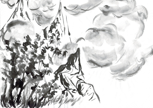 Peinture chinoise - Chrysanthèmes