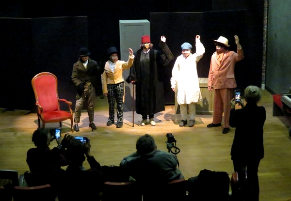 Quelques collégiens  du collège Fontaine des Ducs de Châtillon sur Seine, ont interprété des extraits de Molière