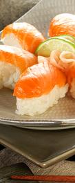 Sushi au saumon et fromage frais
