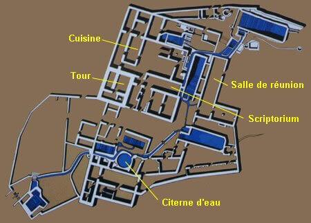 Plan du site de Qumran