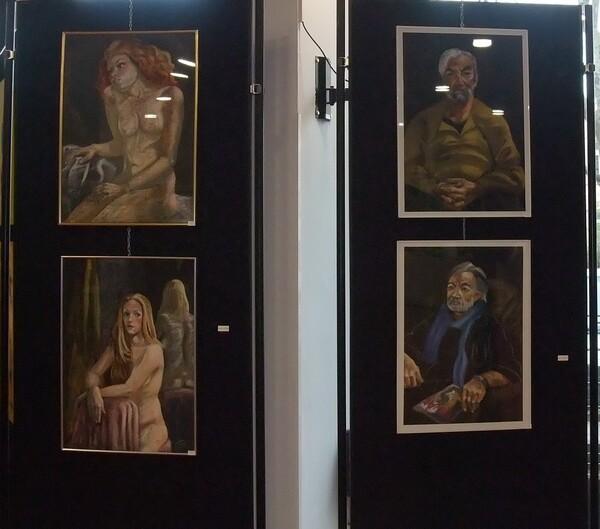 Jeudi - L'expo (4) Les portraits au pastels