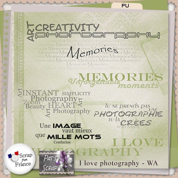 """I Love Photography"" by Pat's Scrap"