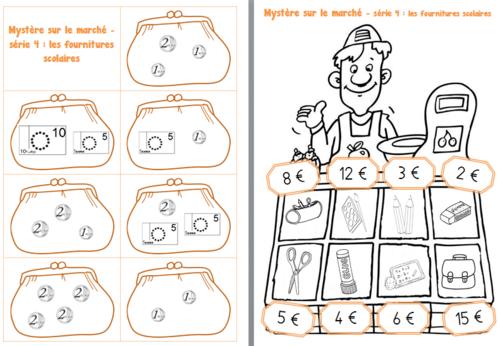 Mystère sur le Marché: un jeu sur la monnaie au CP