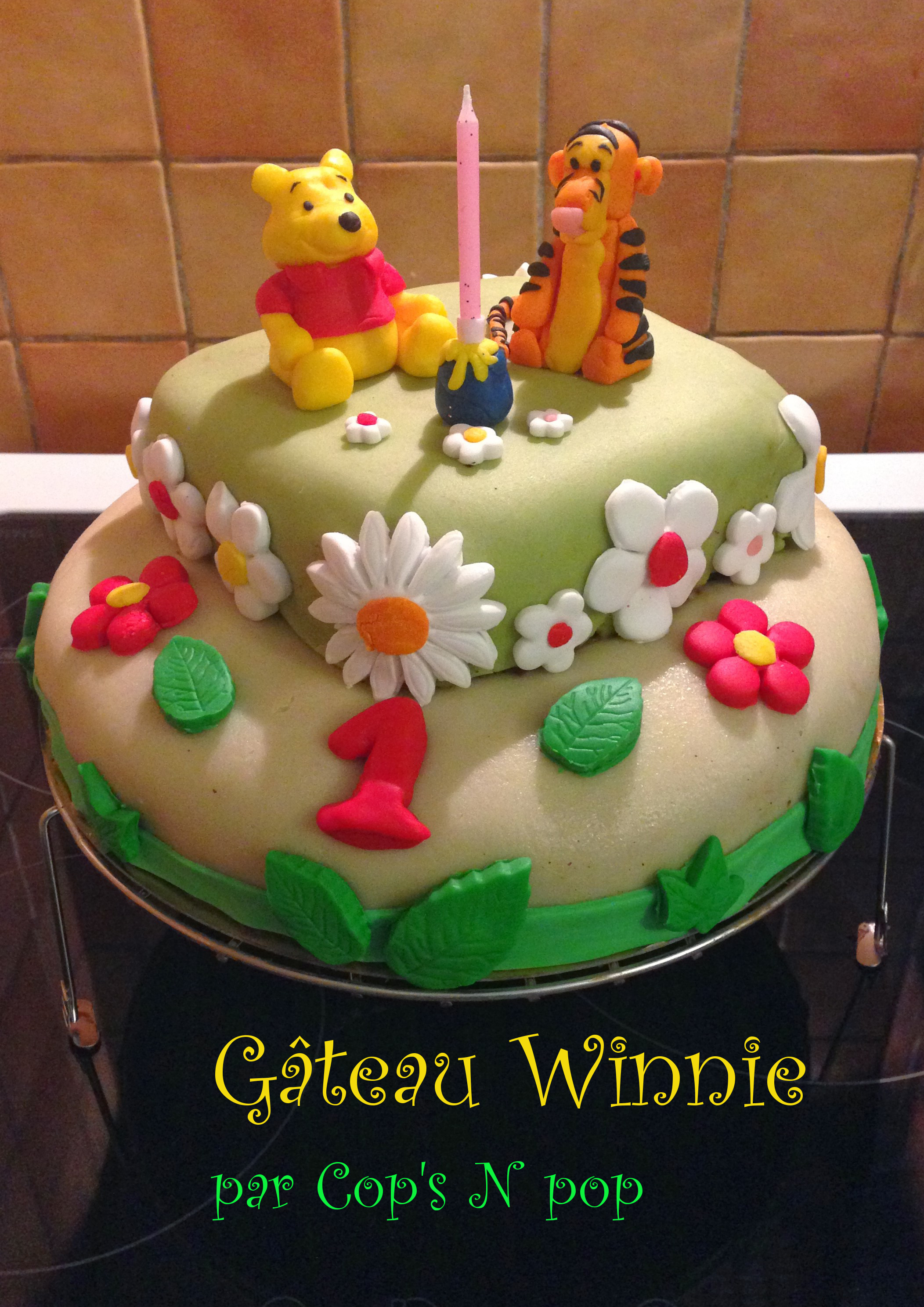 Decoration gateau winnie pate a sucre for Decoration gateau pate a sucre