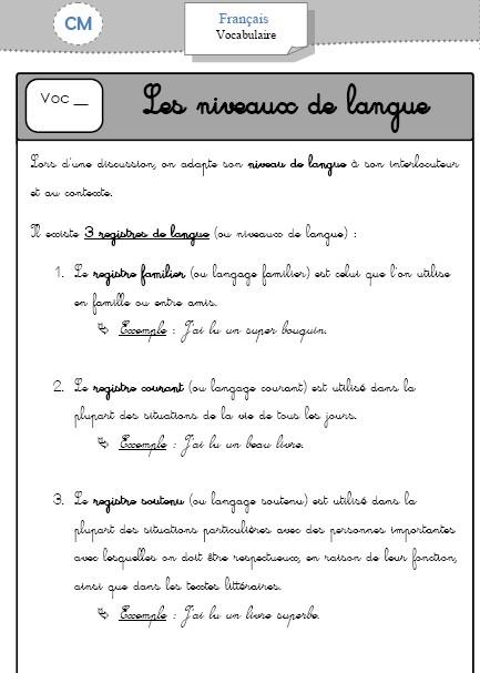 Etude de la langue C3 - (page 6) - LocaZil