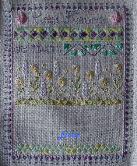 SAL trio : les Fleurs de mon Jardin - étape Eloïse 1, 2, 3 et 4