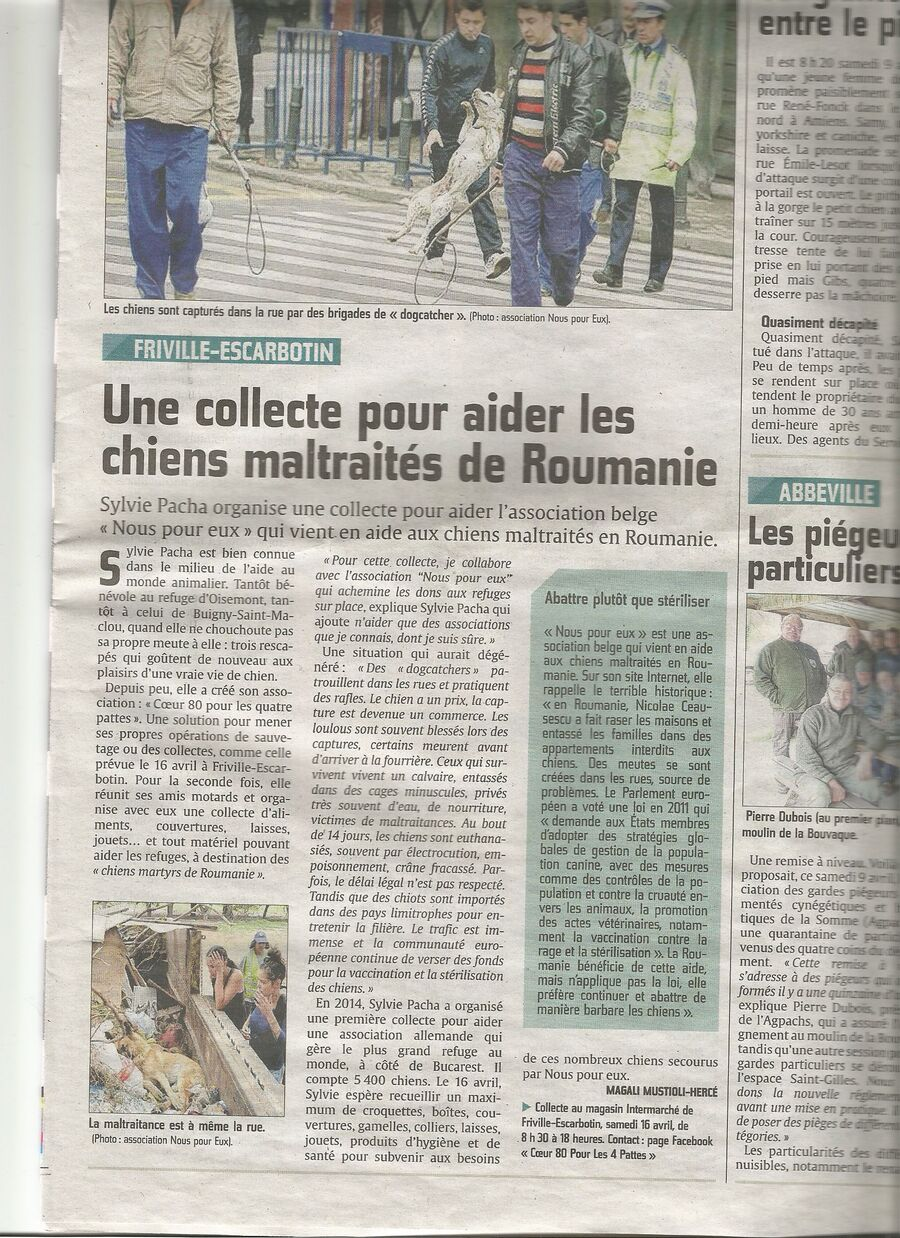 Article du Courrier Picard du 12/04/16