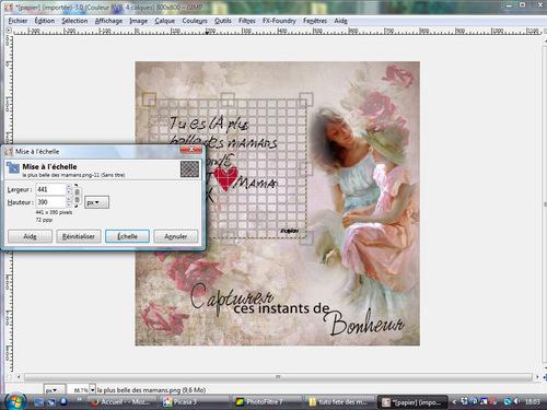 Tuto fête des mères avec the GIMP