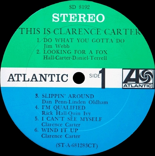 "Clarence Carter : Album "" This Is Clarence Carter "" Atlantic Records SD 8192 [ US ]"