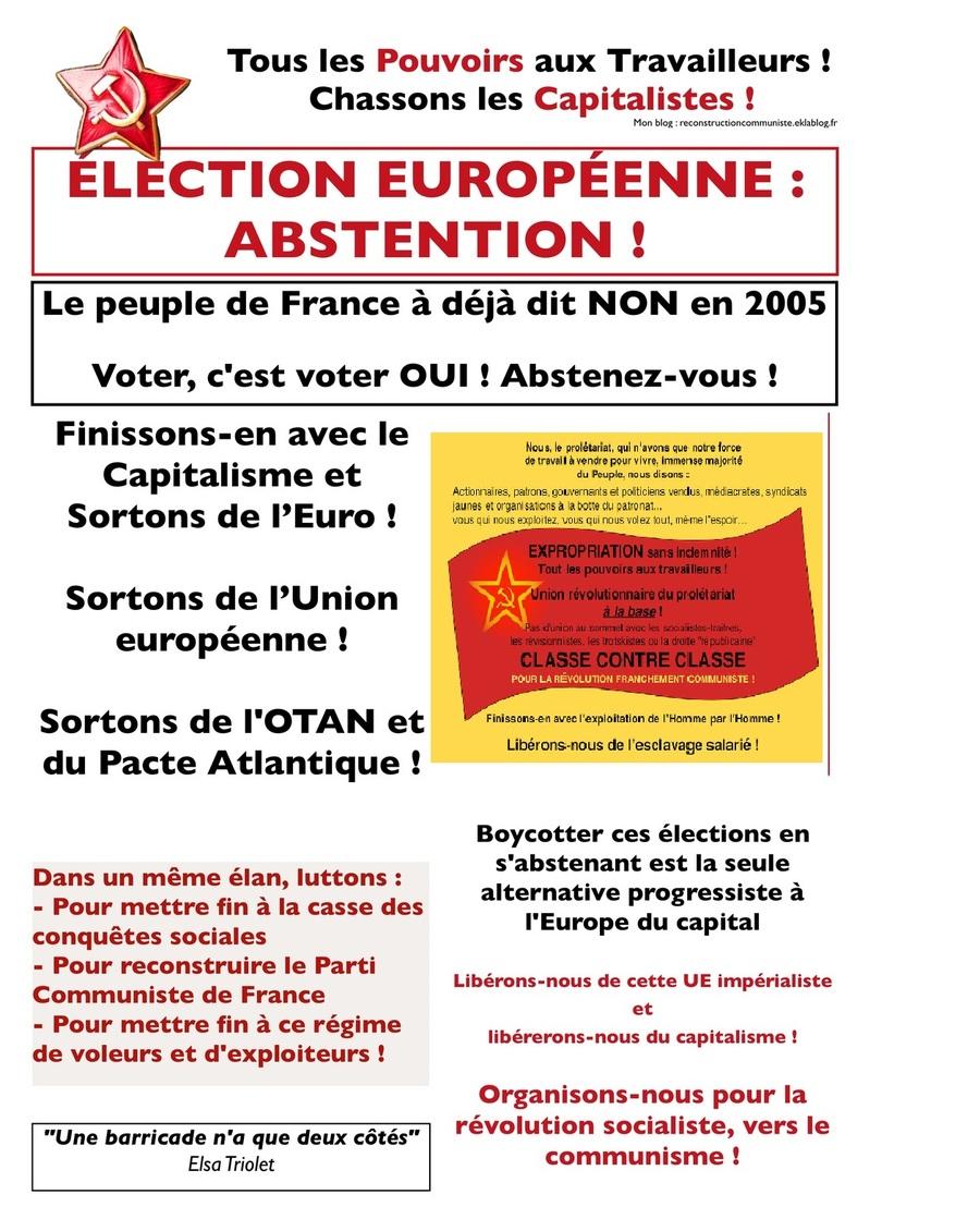 ÉLECTIONS EUROPÉENNES : ABSTENTION !