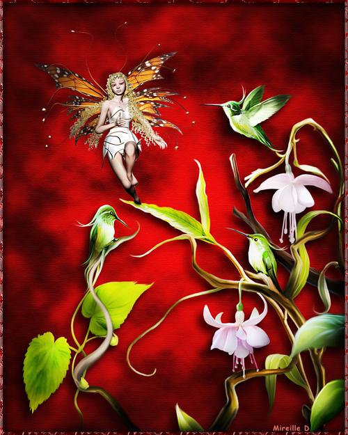 Motif Floral Féérique