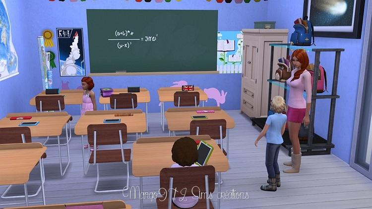 #sims4 L'école le colibri rouge.
