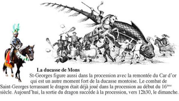 """Ducasse de Mons 2015 : Procession du Car d'Or et Combat dit """"Lumeçon"""".  bon Doudou"""