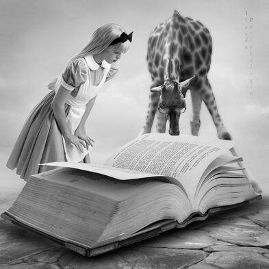 14 - Jeune fille lisant- surréaliste