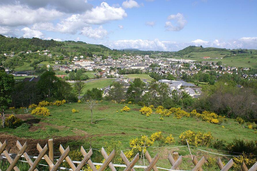 Vue générale de Riom-ès-Montagnes