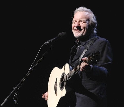 Colm Wilkinson and his guitar