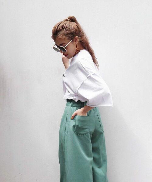 [PIMMY] - Pantalon large évasé - 9,612¥