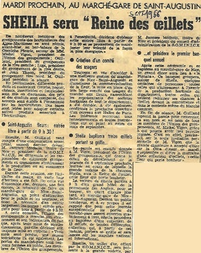 """07 septembre 1966 : Œillet d'Or et Création de l'œillet """"Sheila"""""""