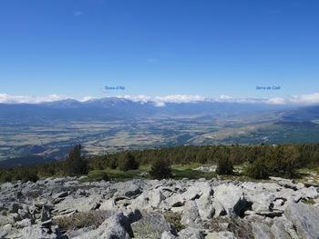 Au sommet du pic dels Moros, vers la Cerdagne espagnole