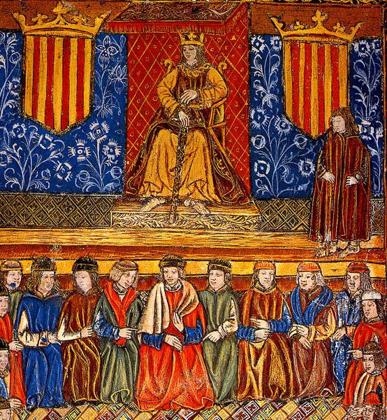 Les Cortes catalanes réunis en présence du roi Ferdinand II le Catholique (incunable du XVe siècle)