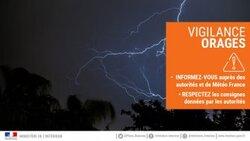 Vigilance météorologique ORANGE-ORAGES