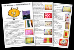 Ateliers graphiques GS - Consignes à coller