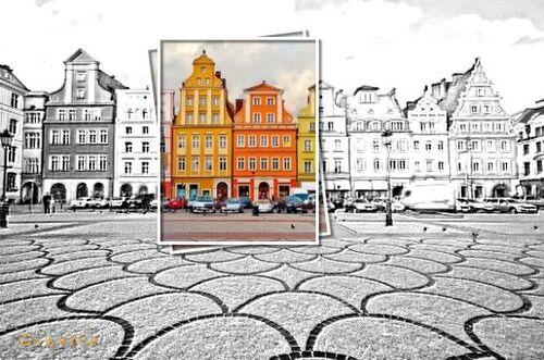 **Zone de couleur sur photo  noir et blanc**