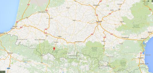 L'hélicoptère s'est écrasé lors d'une mission en altitude dans le massif du Vignemale (Hautes-Pyrénées).Capture écran Google.