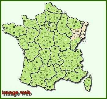 Le grès rose des Vosges.